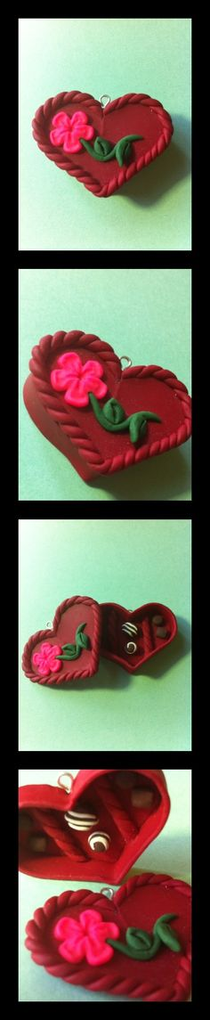 Polymer clay valentine's day box of chocolates :)
