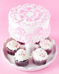 Chocolate Covered Strawberry Cake and Cupcakes