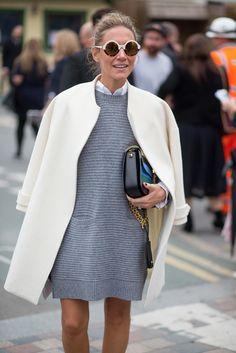 Wearing It Today: OTK boots + Knit dress