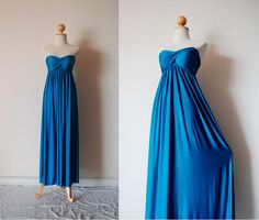 Elegant Teal Evening Dress by pinksandcloset on Etsy, $55.00