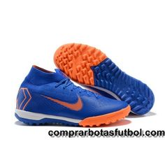 buy popular 5d865 3efdf Mejor Botas De Futbol Nike Mercurial SuperflyX VI Elite TF Azul Naranja