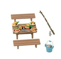 Dollhouses - Epoch Sylvanian Families Sylvanian Family Doll Family BBQ Set Ka615 -- You can get additional details at the image link.