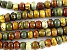 Happy Mango Beads - Red Creek Jasper Rondelle Beads 6mm (GS2340), $12.00 (http://happymangobeads.com/red-creek-jasper-rondelle-beads-6mm-gs2340/)