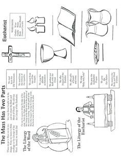 Catholic Mass Parts in Order Worksheet