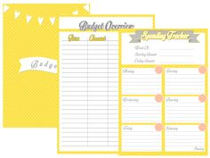 Fiber & Paper: Financial/Budget Printable Freebie