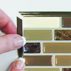 Smart Tiles SmartEdge Ambra Peel and Stick Finishing Edge Backsplash Border 623996510645 Adhesive Backsplash, Peel Stick Backsplash, Peel And Stick Tile, Stick On Tiles, Deco Stickers, Decoration Stickers, Wall Decor Stickers, Smart Tiles, Easy Crown Molding