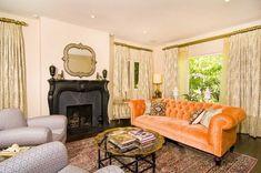 tori spelling's living room