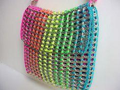 Rainbow Pull Tab Shoulder Bag by Pop Top Lady, via Flickr