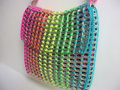 Rainbow Pull Tab Shoulder Bag by Pop Top Lady