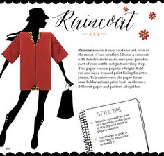 Origami Raincoat from Origami Chic: A Guide to Foldable Fashion by Sok Song