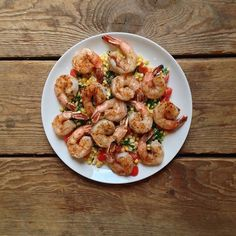 #recipeoftheday | Adapted from @katiemorford Paprika-Spiced Shrimp and Corn Salad #Padgram
