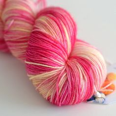 Fingering Hand Dyed Yarn Superwash British by ToilandTrouble, $26.00