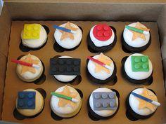 Lego Star Wars Cupcakes para el cumple de dudi