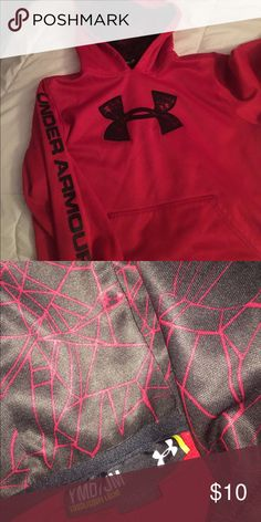 Under Armour Sweat shirt Under Armour Hoodie. Only worn a few times. It does have a name written in it offer the tag on the inside. Not noticeable from outside Under Armour Jackets & Coats