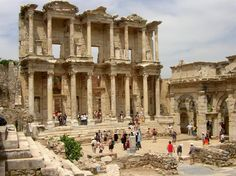 The ruins of the library at Ephesis, Turkey. Just a sample of the wonders of Ephesis. Unforgettable! 2010