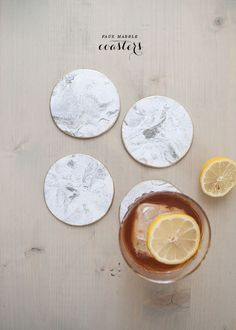 """Sculpt a set of """"marble"""" coasters using oven bake clay. 19 Amazing DIY Gifts That Only Look Expensive Diy Clay, Clay Crafts, Fun Crafts, Marble Coasters, Diy Coasters, Ceramics Projects, Clay Projects, Oven Bake Clay, Cup Coaster"""