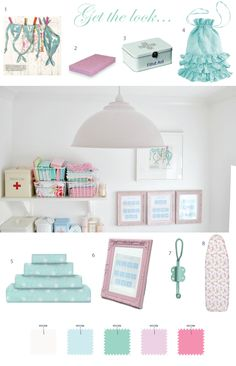 Pretty laundry room by Torie Jayne