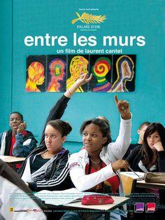 Entre les murs est un film de Laurent Cantet avec François Bégaudeau, Agame Malembo-Emene. Synopsis : François est un jeune professeur de français dans un collège difficile. Il n'hésite pas à affronter Esmeralda, Souleymane, Khoumba et les autres dans