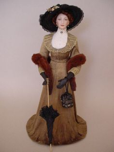 AMBER - an Edwardian dollshouse doll by Debbie Dixon-Paver