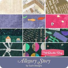 Allegory Story Fat Quarter Bundle Carrie Bloomston for Windham Fabrics - Fat Quarter Bundles   Fat Quarter Shop