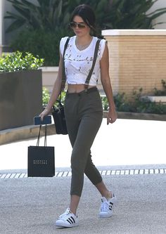 When she redefined suspenders. | 22 Times Kendall Jenner Made You Want To Be Or Date Kendall Jenner