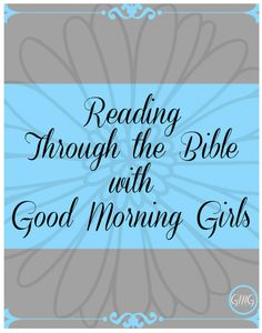 This week we begin - reading through the Bible cover to cover - one chapter a day! Come join us!!!