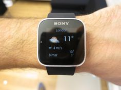 Sony SmartWatch for Android hands-on video Apple Watch, Smart Watch, Fitbit, Sony, Android, Weather, Smartwatch