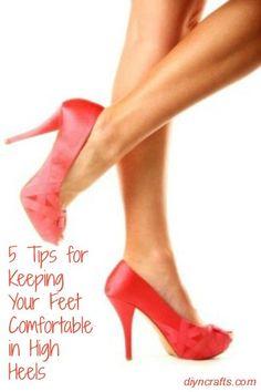 5 Tips for Keeping Your Feet Comfortable in High Heels..  très bonne vidéo donnant des conseils pour etre plus à l'aise dans ses chaussures à talons !
