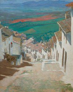 """Jens Ferdinand Willumsen:"""" Gade i Alora"""", 1889. Davids samling."""
