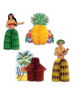 Make your table tops pop but in a mini way! Get the Luau Mini Centerpieces for your next celebration! These centerpieces are perfect for a luau or tropical them Luau Party Supplies, Luau Theme Party, Hawaiian Luau Party, Hawaiian Birthday, Unicorn Party Supplies, Party Themes, Party Ideas, Hawaiian Tiki, Tiki Party