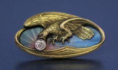 Russian art nouveaux   Russian Gold and Enamel Cufflinks in Art Nouveau style