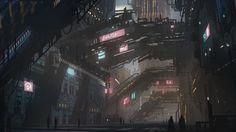 Resultado de imagen de cyberpunk city