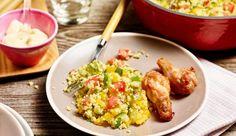 Die perfekte Beilage zu Gegrilltem. Probiere den Couscous-Salat mit Tomate, Gurke und Paprika. Das Rezept gibt's bei MAGGI.