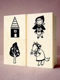 red riding hood rubber stamps - Google Search