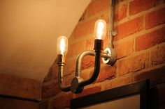 Industrial wall light. www.gretchenboon.co.uk