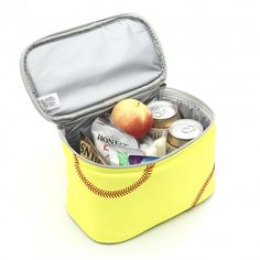 Fully Insulated Spill Resistant Lunch Box Actual Softball Leather #Zumer #Fullyinsulatedspillresistant