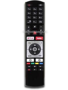 Telecomanda Telefunken RC4318 cu aspect original, are functie de YouTube si Netflix, de cea mai buna calitate, care inlocuieste cu succes varianta originala Mai, Netflix, Remote, Youtube