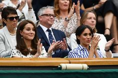See Every Photo of Meghan Markle and Kate Middleton Supporting Serena Williams at Wimbledon 2018- HarpersBAZAAR.com