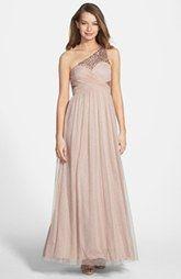 Hailey Logan Embellished One-Shoulder Gown (Juniors)