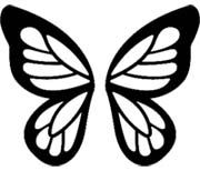 Ideas tattoo butterfly face for 2019 Butterfly Face Paint, Butterfly Outline, Butterfly Stencil, Butterfly Drawing, Butterfly Party, Butterfly Template, Butterfly Crafts, Butterfly Pattern, Butterfly Wings