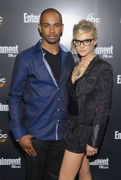 Even off screen they look great- they have the best relationship on Happy Endings! Damon Wayans Jr. and  Eliza Coupe