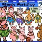 This set of 24 Three Little Pigs graphics contains two different sets of each character. The first set has 3 pigs, a wolf, and three numbered hou. Pig Character, Three Little Pigs, Going Back To School, Fairy Tales, Whimsical, Workshop, Clip Art, Teacher, Graphics