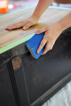 Furniture Makeover: Paint and New Hardware Transform Old Wooden Chest