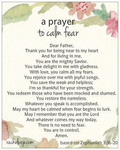 A Prayer to Calm Fear