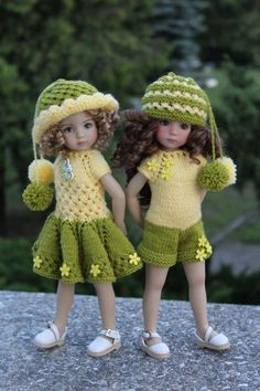 """OOAK OUTFIT Ensemble 2 in 1 for LITTLE DARLING EFFNER 13"""" doll"""