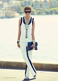 "Editorial harper's Bazaar Australia January 2013 ""Sea & be Seen"" feat Gabby Westbrook-Patrick By justin Ridler"