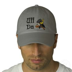 Uff Da Scandinavian Viking in Helmet Baseball Cap