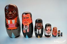 "Pin for Later: These Pop-Culture Nesting Dolls Are So Freakin' Rad Nothing like Pulp Fiction characters to remind you to never say ""What."""