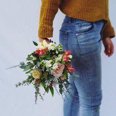 FLOWER GIRL POSY F l o r a l S t y l i s t  (@pebbleanddot)  Fowergirl Posy x Wedding Flowers, Mom Jeans, Fashion, Moda, Fashion Styles, Fashion Illustrations, Bridal Flowers