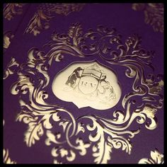 Pretty purple laser cut sleeves being prepared in the studio today.